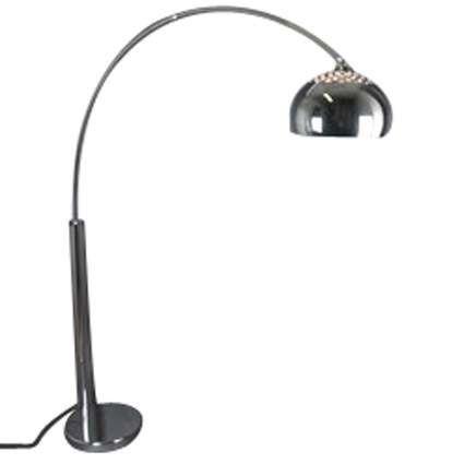 Lampe-à-arc-en-chrome-avec-abat-jour-en-chrome