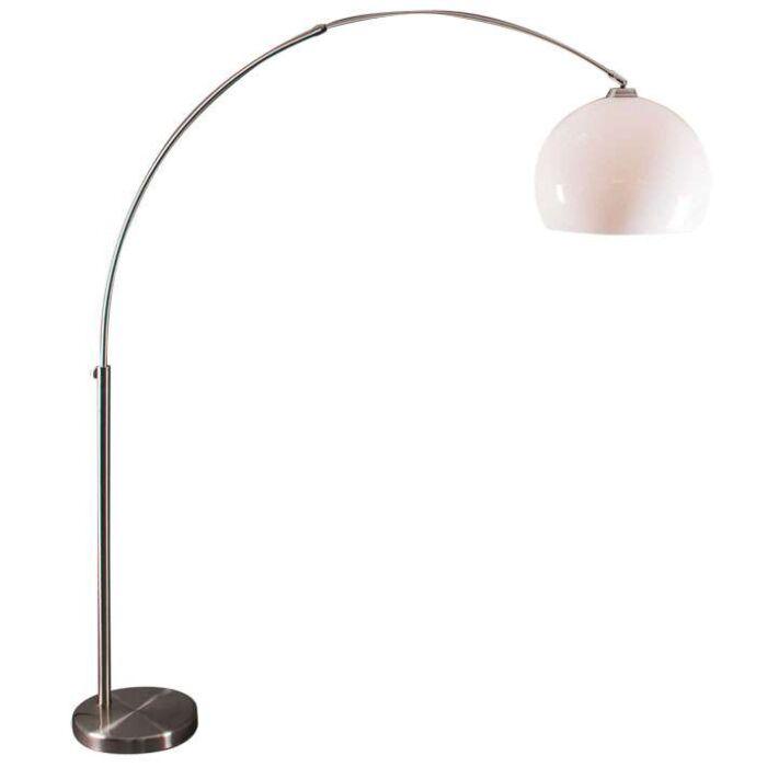 Lampe-arc-en-acier-avec-abat-jour-en-plexi-blanc