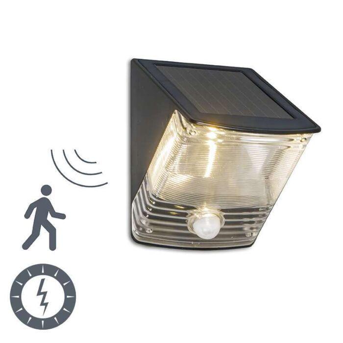 LED-d'extérieur-LED-sombre-avec-détecteur-de-mouvement-à-énergie-solaire