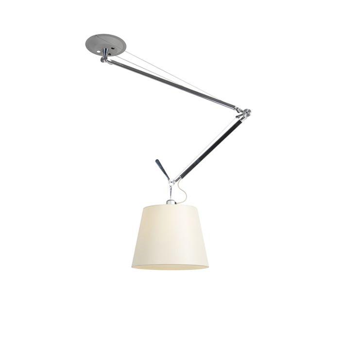 Lampe-à-suspension-design-avec-abat-jour---Artemide-Tolomeo-Sospensione-Decentrata
