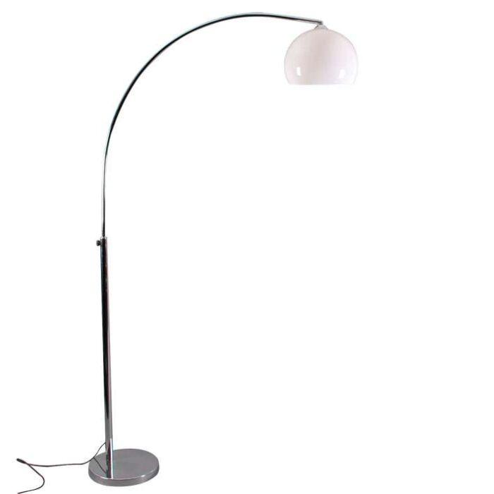 Petite-lampe-chromée-avec-abat-jour-blanc