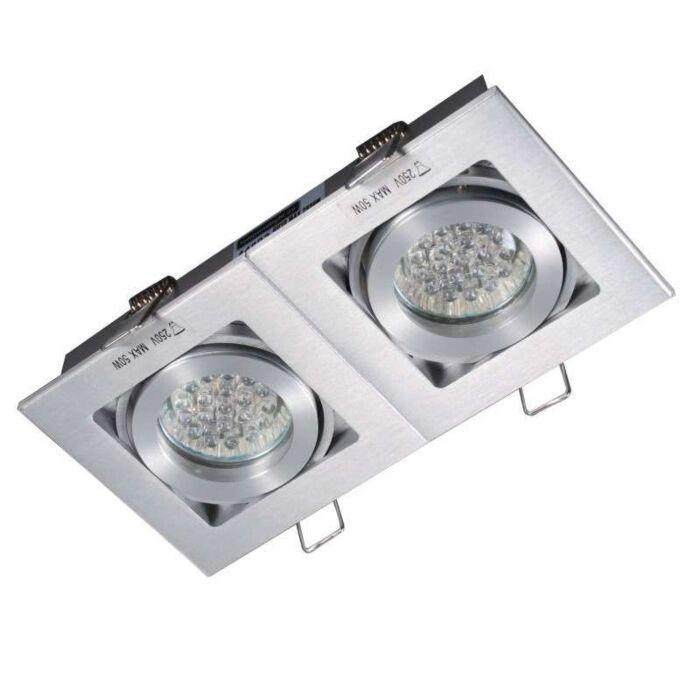 Spot-encastré-Quadro-2-en-aluminium