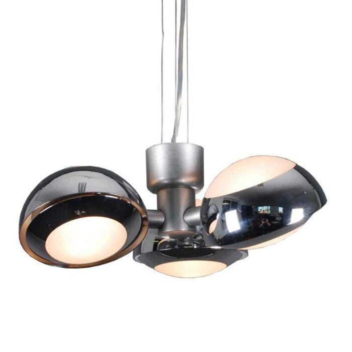 Curio-3-lampe-à-suspension-chrome