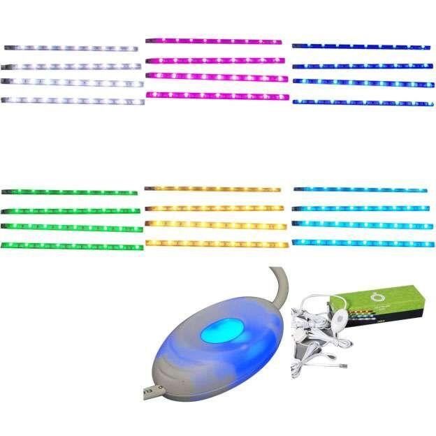 Ensemble-de-quatre-bandes-LED-RVB