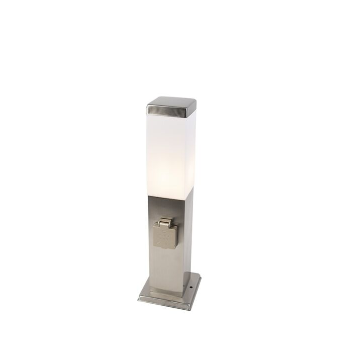 Lampe-d'extérieur-moderne-45-cm-acier-avec-douille-IP44---Malios