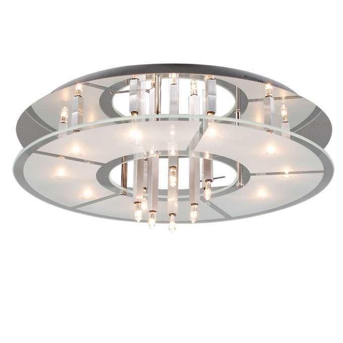 Plafonnier-Circle-16-chrome