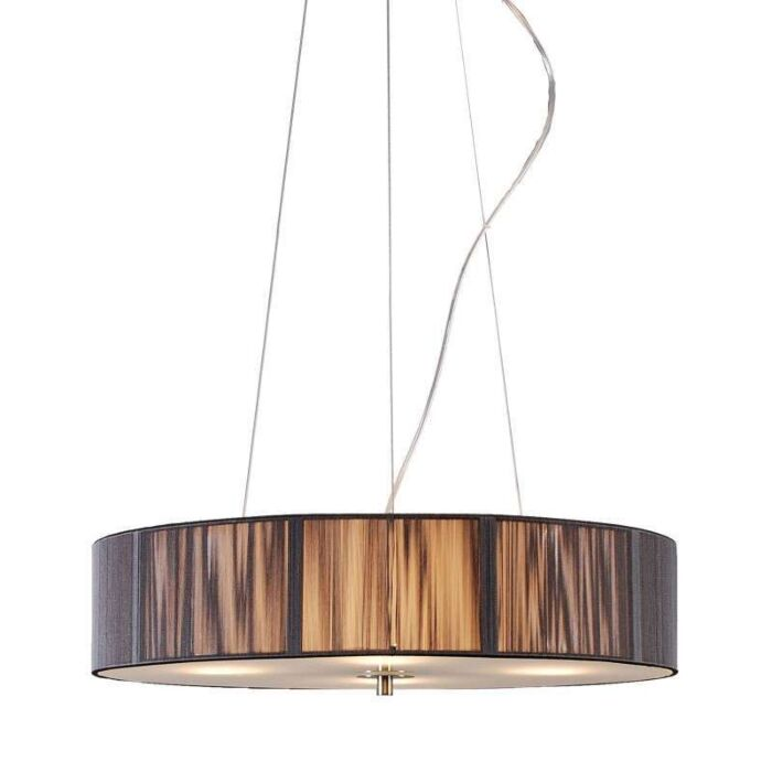 Lampe-suspendue-Corde-autour-de-50-anthracite