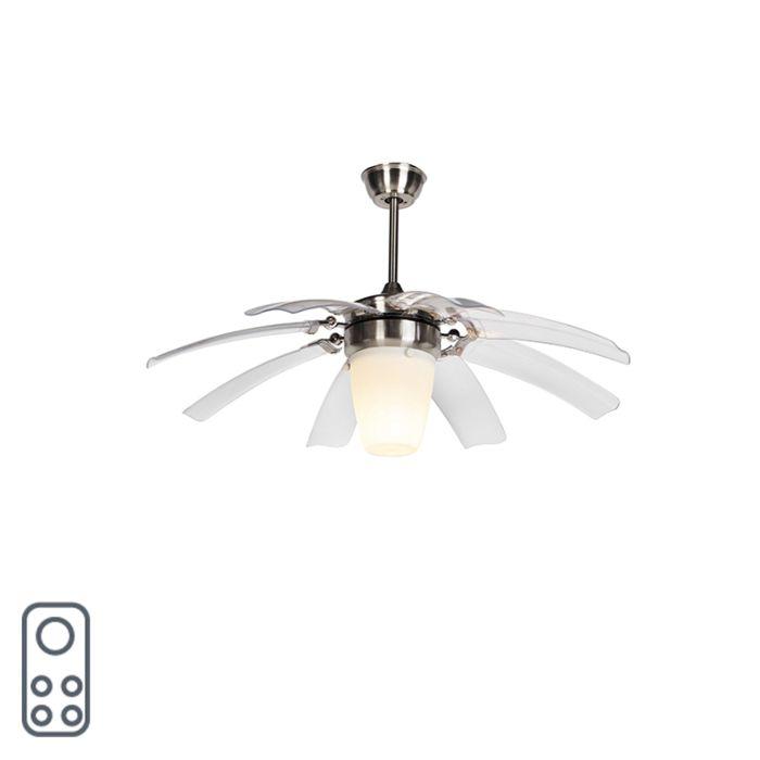 Ventilateur-de-plafond-argenté-avec-télécommande---Wings-42-acier