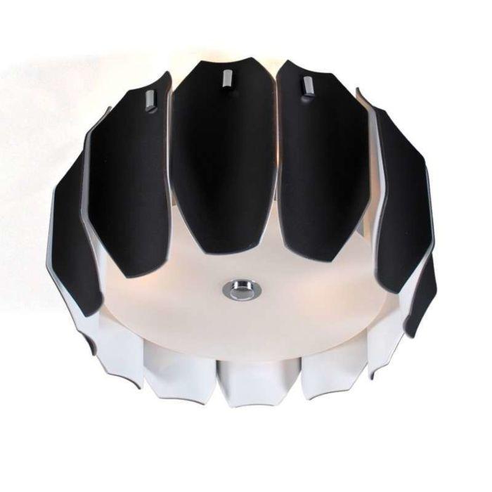 Plafonnier-Archo-40-chrome---noir