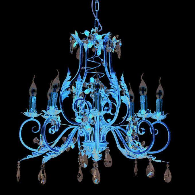 Lustre-Sissy-à-8-Lumières---Or-Antique