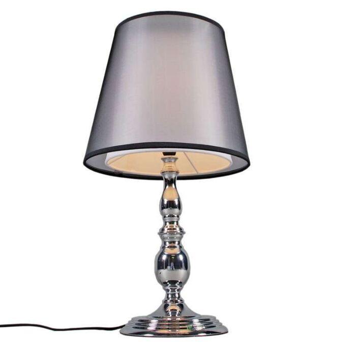 Lampe-de-table-Mythos-chrome-avec-abat-jour