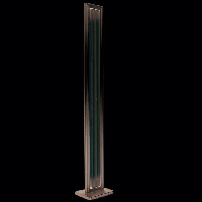 Lampadaire-Tube-droit-argenté-2-x-35W
