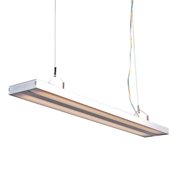 Lampe-suspendue-Tube-S-argent-2-x-21W