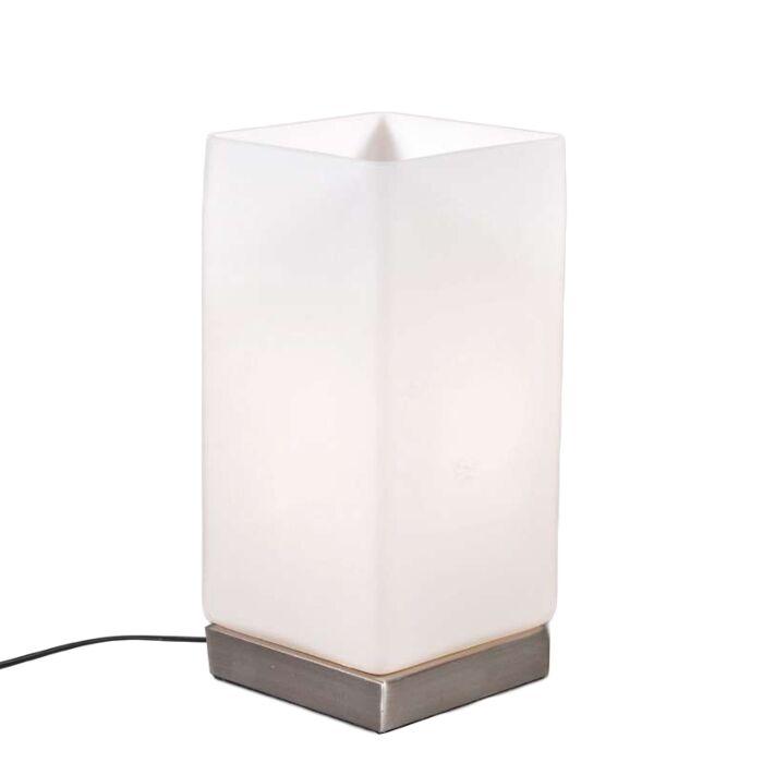 Lampe-de-table-Accu-en-acier-avec-verre-blanc
