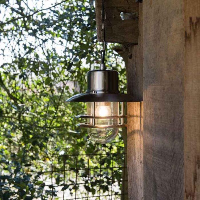 Lampe-suspendue-rétro-acier---Coquille