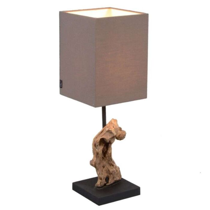 Lampe-de-table-Vamida-avec-abat-jour-marron