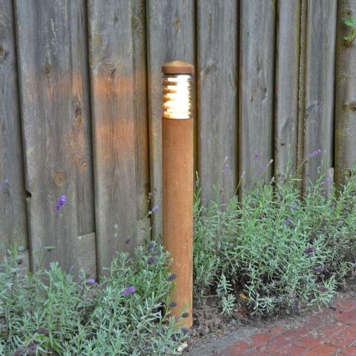 Lampe-d'extérieur-poteau-de-poteau-70-teck