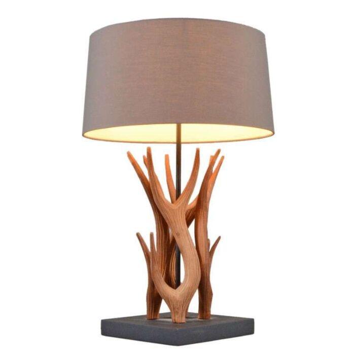 Lampe-de-table-Yindee-naturelle-avec-abat-jour-marron