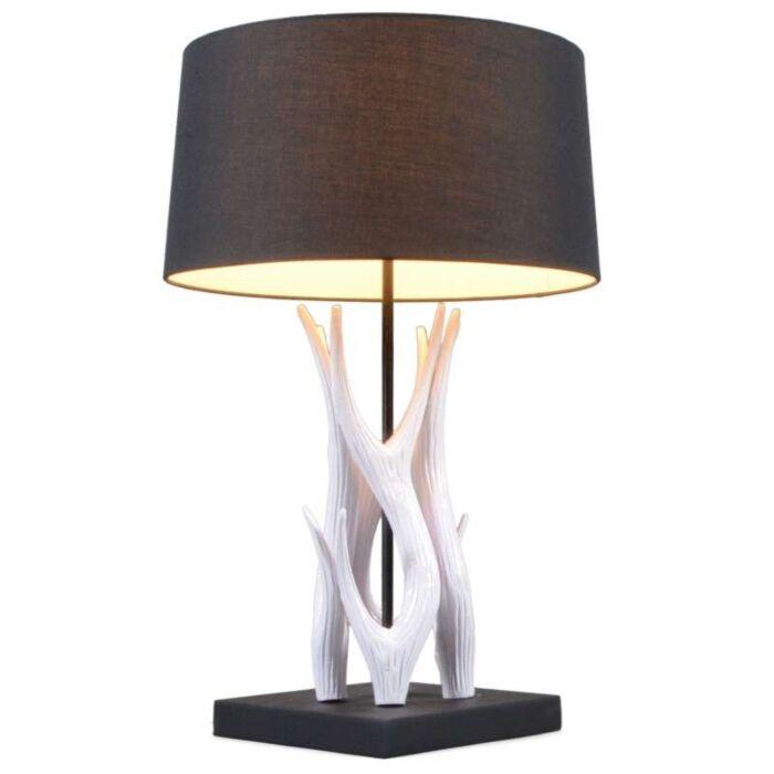 Lampe-de-table-Yindee-blanche-avec-abat-jour-noir
