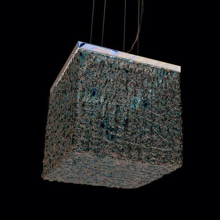 Draht-Square-10-lampe-à-suspension-en-aluminium