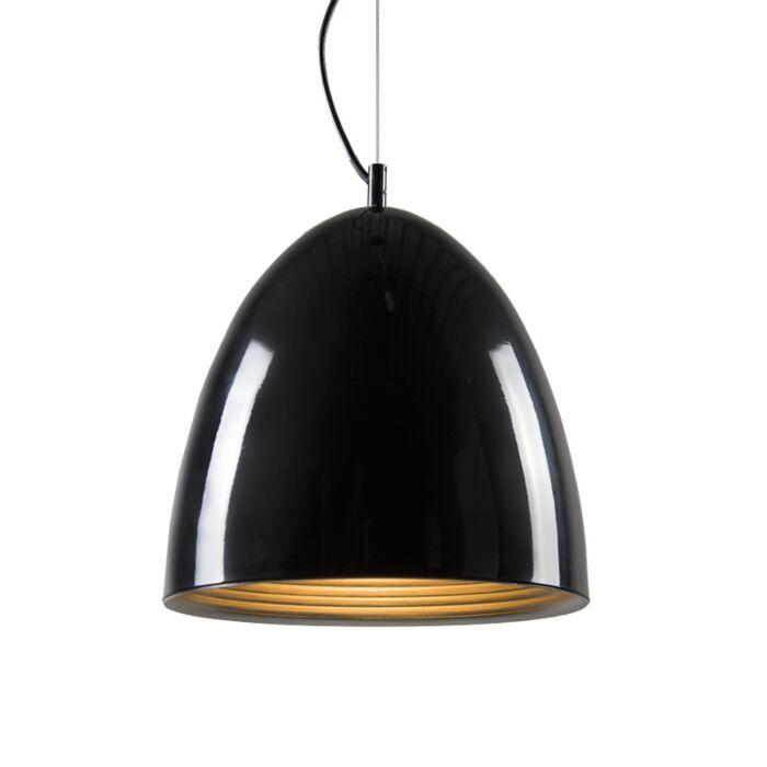 Lampe-suspendue-Feuille-noire