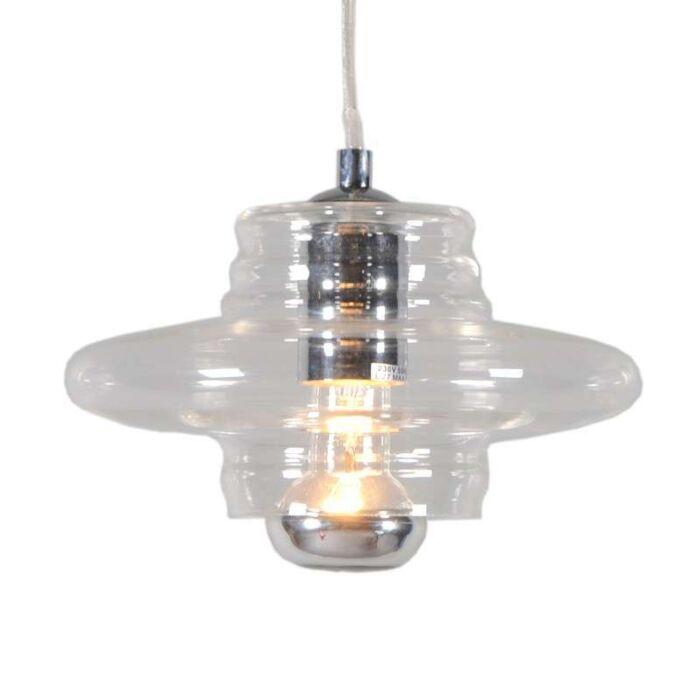 Treviso-I-lampe-suspendue-verre-clair