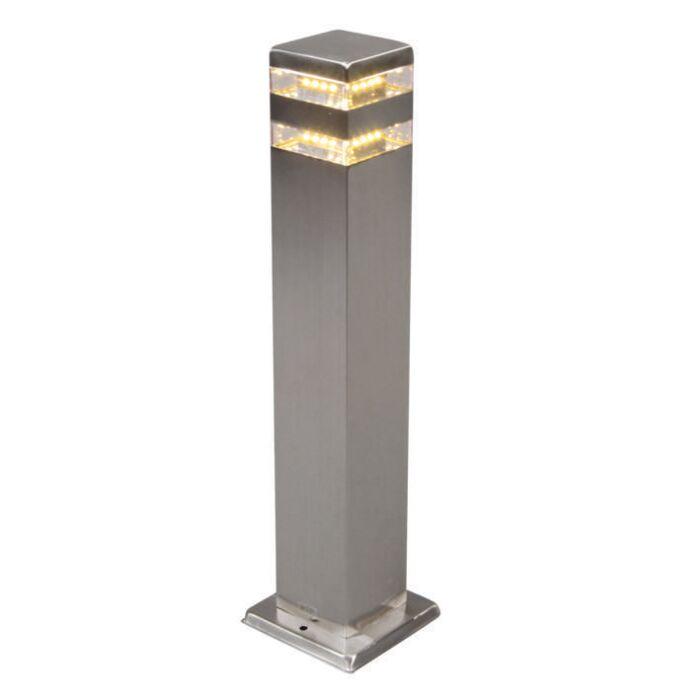Lampe-d'extérieur-Satin-Square-50cm-en-acier-avec-LED