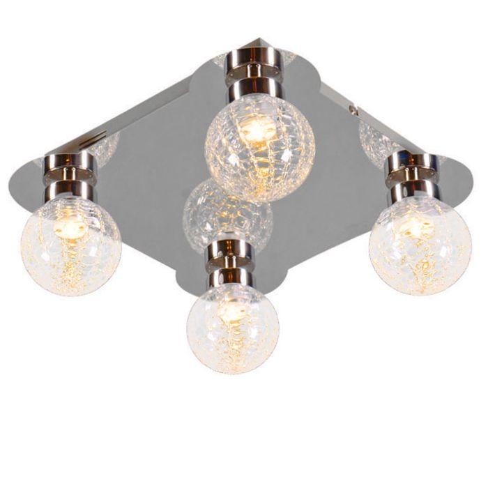 Plafonnier-Ice-4-LED-chrome