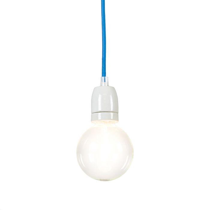 Lampe-suspendue-Cavo-bleue