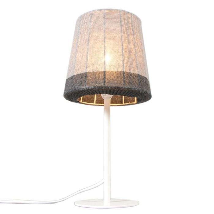 Maglia-lampe-de-table-blanche-avec-gris