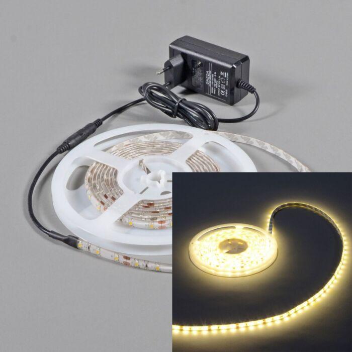Bande-LED-flexible-blanc-chaud,-IP65,-5-mètres
