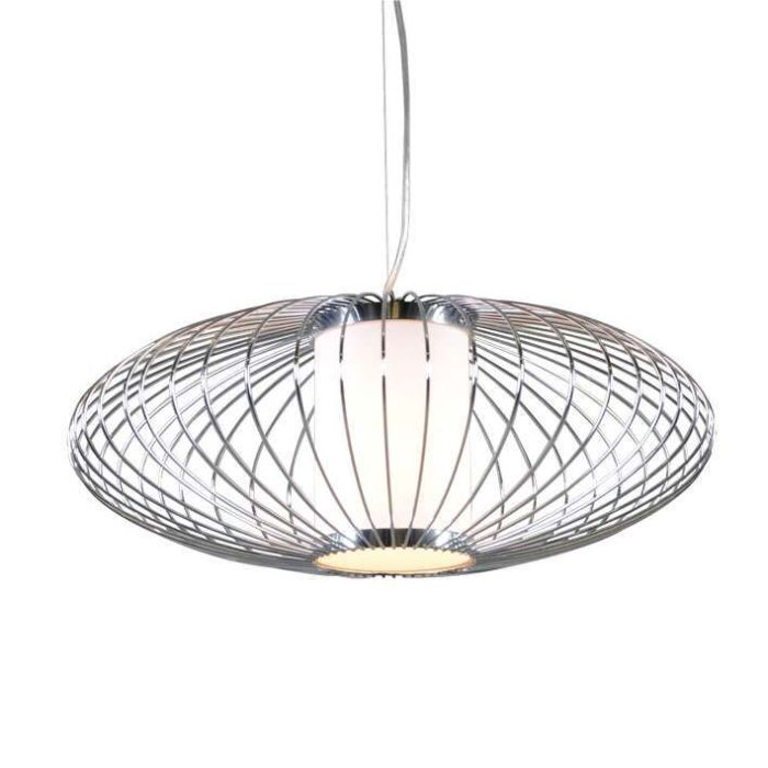 Lampe-suspendue-Wire-Pumkin-50-chrome