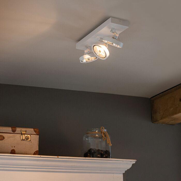 Projecteur-design-blanc-réglable-à-3-lumières-avec-LED---Go