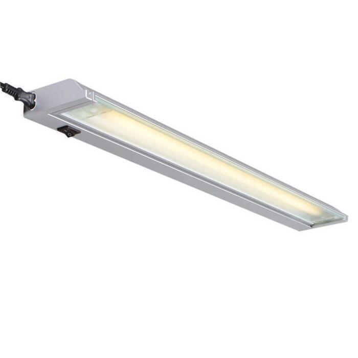 Lampe-fluorescente-Luxline-13W-gris-argenté