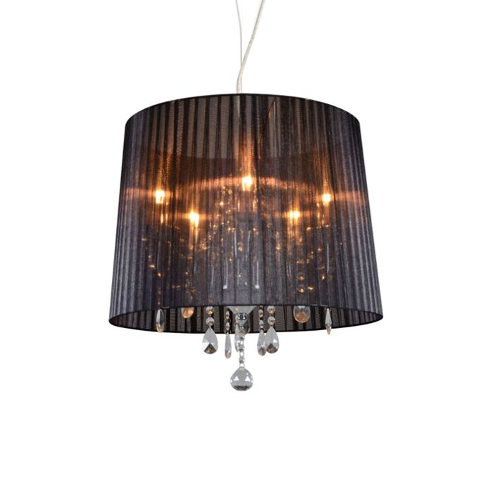 Lustre-chrome-avec-noir-50-cm-5-lumières---Ann-Kathrin-5