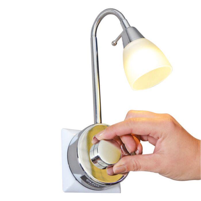 Plug-Spot-Plug-flex-LED-en-acier-avec-dimmer