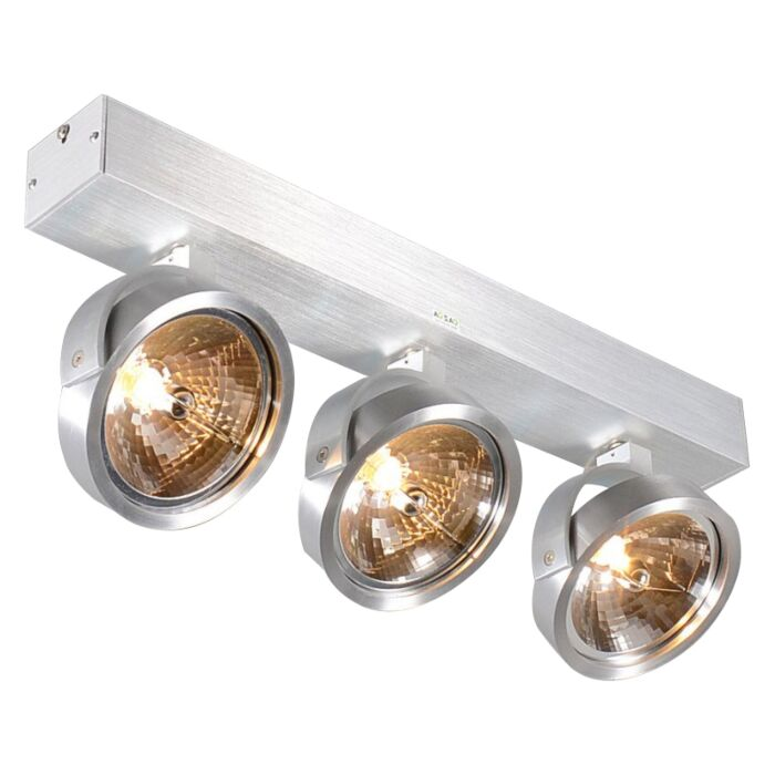 Spot-design-en-aluminium-réglable-à-3-lumières,-y-compris-halogène---Go