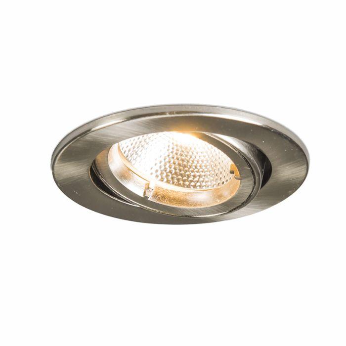 Spot-encastrable-rond-en-acier-rond-avec-LED-6W
