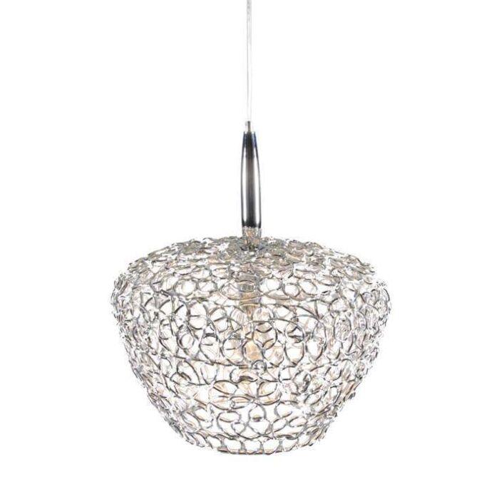 Cocoon-42-lampe-à-suspension-chrome