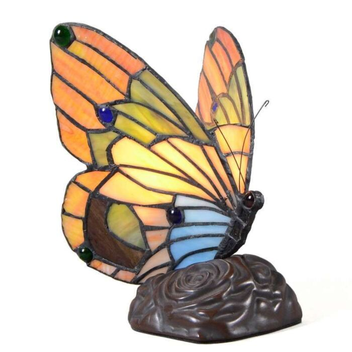 Lampe-de-table-Tiffany-Papillon