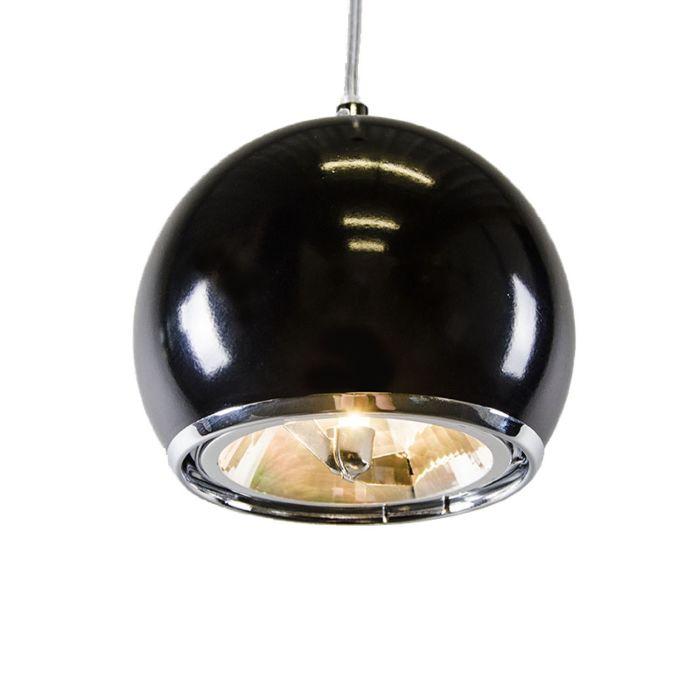 Lampe-portuaire-suspendue-noire