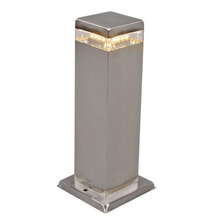 Lampe-d'extérieur-Satin-Square-30-cm-en-acier-avec-LED