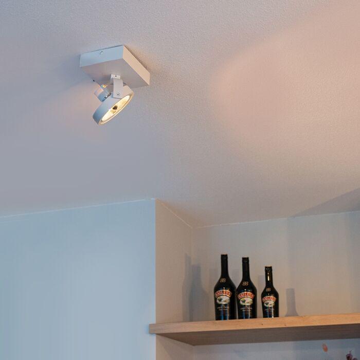 Projecteur-design-blanc-réglable-à-1-lumière-avec-LED---Go