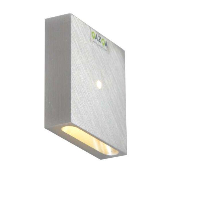 Applique-murale-encastrée-quartz-carré-I-aluminium