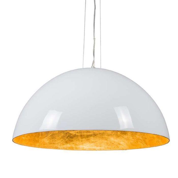 Magna-Glossy-suspension-70cm-blanc-avec-doré