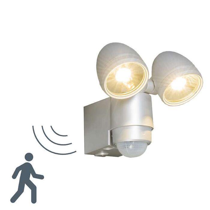 Lampe-d'extérieur-VAP-Duo-gris-argent-avec-détecteur-de-mouvement