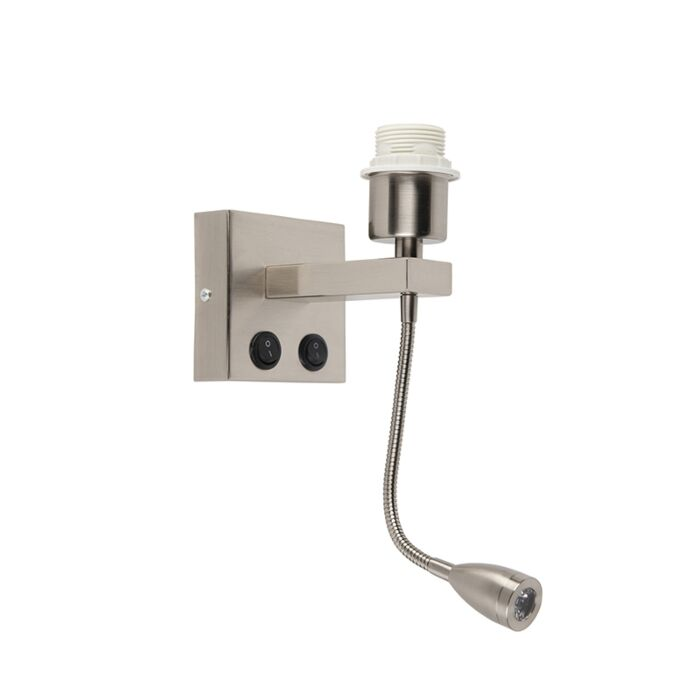 Applique-moderne-en-acier-avec-bras-flexible---Brescia-Combi