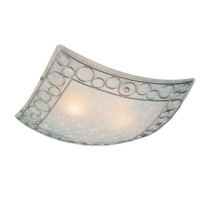 Plafonnier-Titan-carré-avec-verre