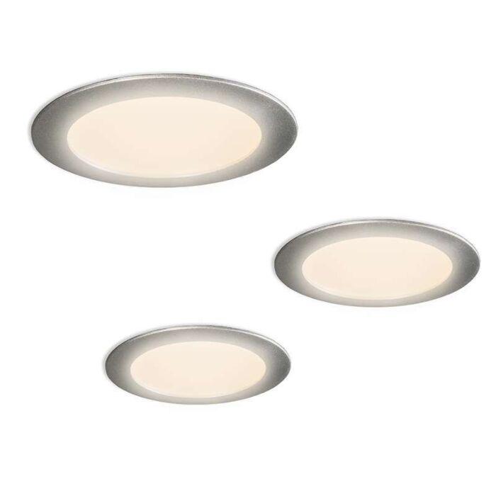 Radem-kit-d'installation-de-3-spots-LED-gris