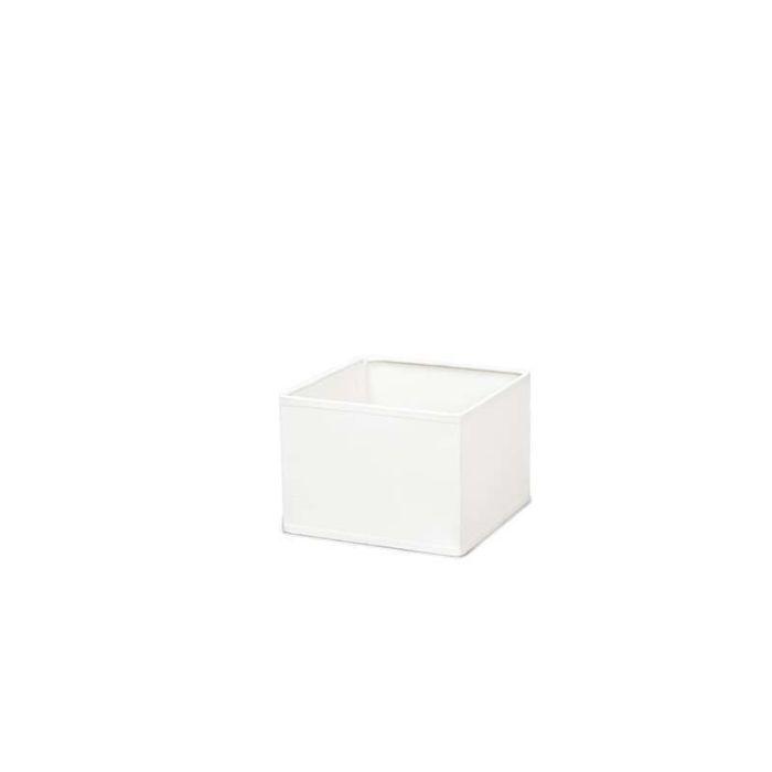 Couverture-carrée-17/17/12-blanc-crème-E14